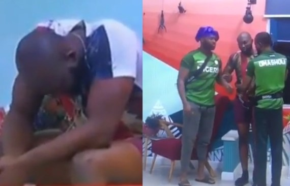 #BBNaija: Tuoyo spotted crying over non-completion of task (videos)