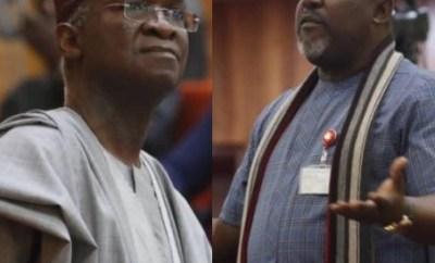 Fashola now having grey hair for heading 3 ministries ? Okorocha
