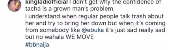 BBNaija: Tacha?s alleged boyfriend blasts Ebuka