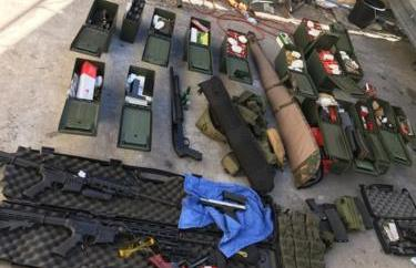 weapons seized from Montoya's home