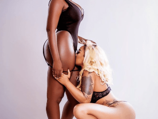Toyin Lawani sniffs Princess Shyngle vagina in new raunchy photo