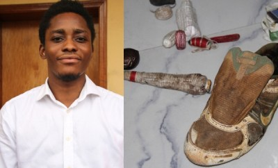 24-year-old yahoo boy arrested with his charms in Lagos