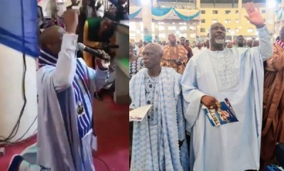 Senator Dino Melaye leads worship service in church (video)