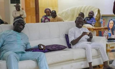 Photos of Oshiomole and Obaseki at their peace meeting