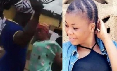 Ghanaian slay queen flogged after defending her sex tape leak, her hair also shaved (videos)