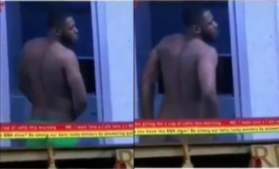 BBNaija: Frodd strips for Esther, flashes his bare butt (video)