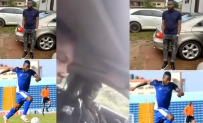 Any youth who owns a Benz is a yahoo boy - Policeman tells Enyimba FC player, Stephen Chukwude (video)