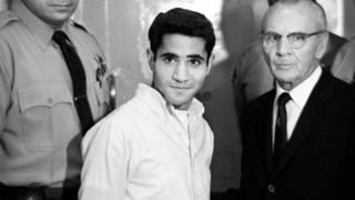 Sirhan Sirhan assassinated Democratic presidential hopeful Robert F Kennedy in 1968
