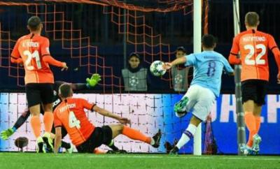 Ilkay Gundogan scores for Manchester City