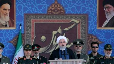"""Hassan Rouhani said foreign forces had always brought """"pain and misery"""""""
