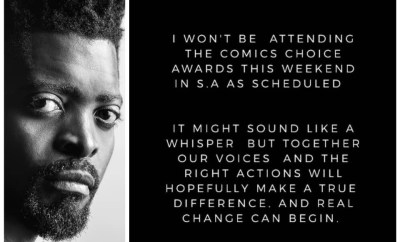 #Xenophobia: Basketmouth cancels his appearance at the Comic Choice Awards in South Africa this weekend
