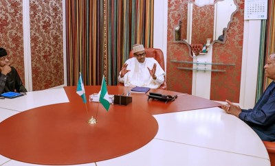 #Xenophobia: President Buhari, VP Osinbajo, Minister of Foreign Affairs Geoffrey Onyeama in closed door meeting (photos)