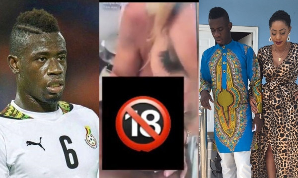 Ghanaian footballer, Afriyie Acquah accidentally live-streams getting a blow job from a white woman on Snapchat, ex-wife reacts