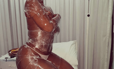 Zodwa Wabantu strips down while at a medical centre to get a skin treatment