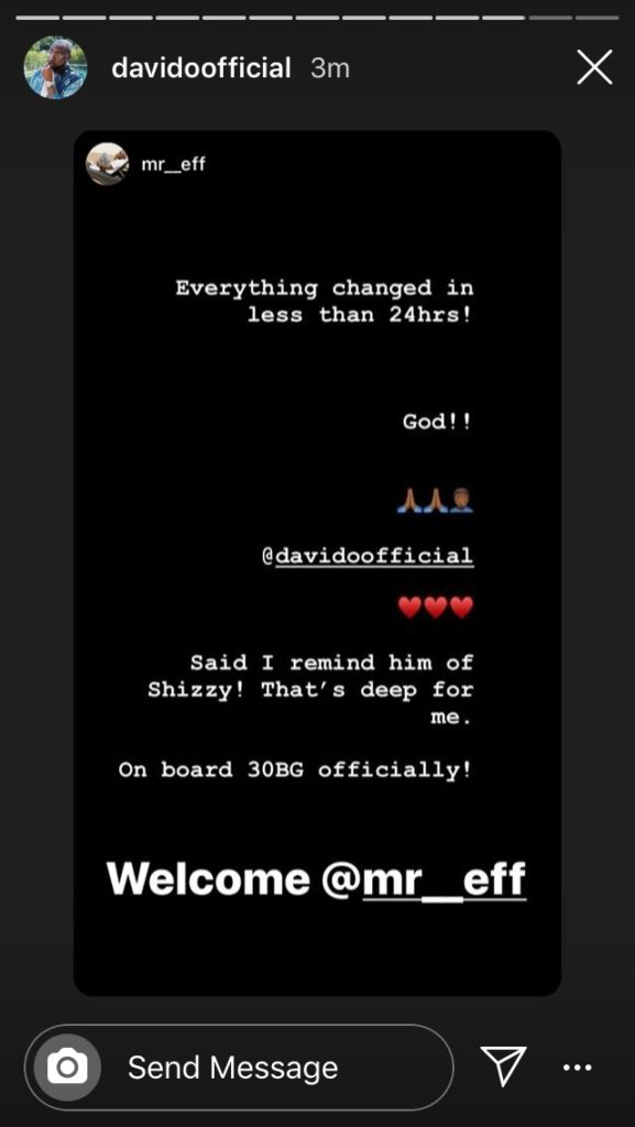 "Davido Officially Welcomes New Producer ""Mr Eff"" To His Label 9"