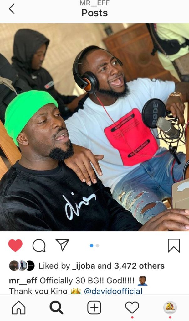 "Davido Officially Welcomes New Producer ""Mr Eff"" To His Label 11"