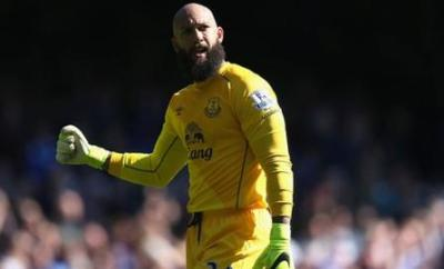 Tim Howard playing for Everton