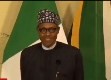 """#Xenophobia: """"When you are in a foreign country respect their laws"""" President Buhari tells Nigerians (video)"""