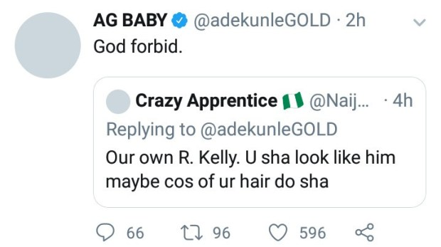 "Adekunle Gold responds to claims he is ""our own R.Kelly"""