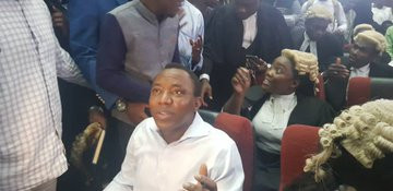 Moment Sowore rejected DSS operatives