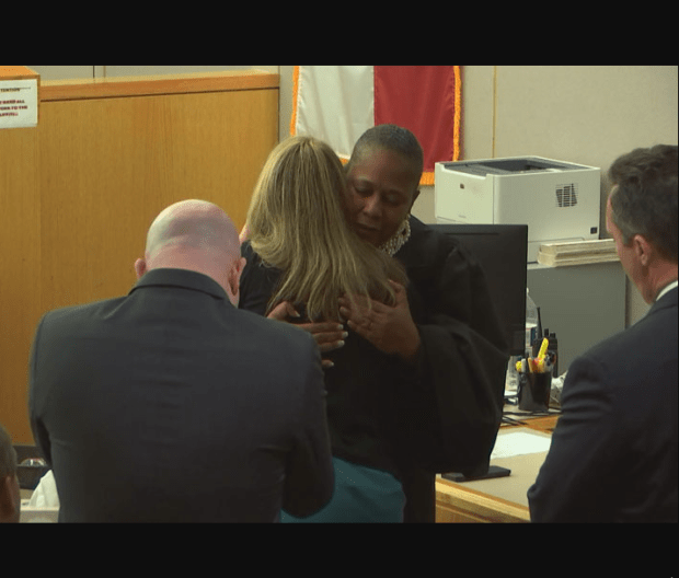 Judge explains why she hugged ex-Dallas cop Amber Guyer and gave her a Bible in court after sentencing her for murder