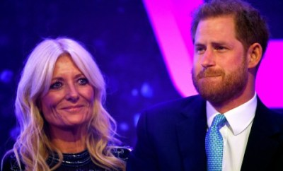 Prince Harry breaks down on stage while recalling his wife