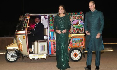 Kate Middleton dazzles in ?3500 dress as she joins Prince William on Pakistan visit