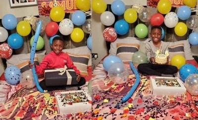 Odion Ighalo celebrates his son Samuel Ighalo on his birthday (Photos)