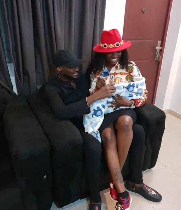 Photo of Annie Idibia sitting on Tuface