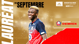 Nigerian striker Victor Osimhen named as French Ligue 1 player of the month