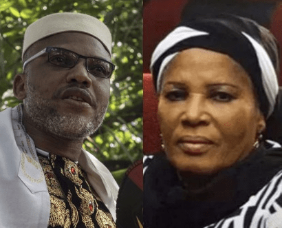 Nnamdi Kanu blames FG for the death of his mother