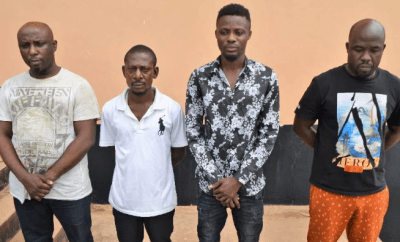 EFCC bursts four-man gang who specialize in exploiting personal data of foreign-based Nigerians