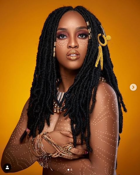 Nigerian singer and feminist Maj poses topless in new raunchy photos