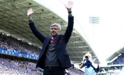 Arsene Wenger after his last match in charge of Arsenal in May 2018