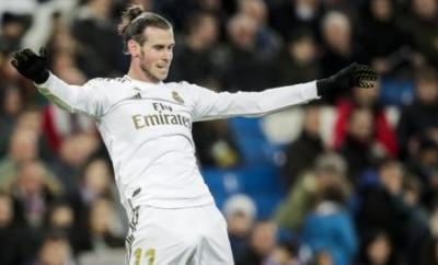 Gareth Bale celebrates a Real Madrid goal