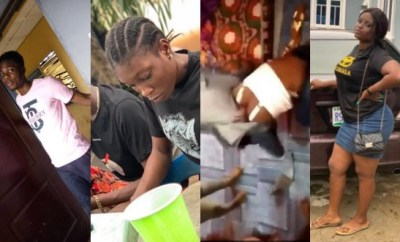 FUTA students who ganged up to beat a 100 level female student have been identified and arrested, see their photos (videos)