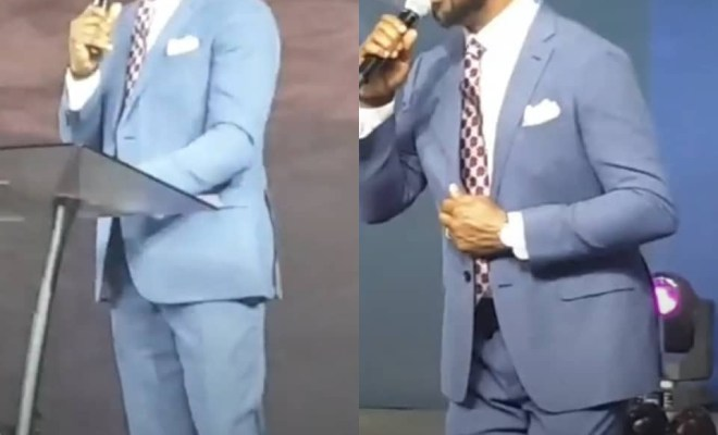 On Friday I was just weeping- Biodun Fatoyinho tells his congregation this morning, days after court dismissed his rape case with Busola Dakolo (video)