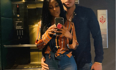 Loved-up photo of Power star Rotimi and his new girlfriend Vanessa Mdee