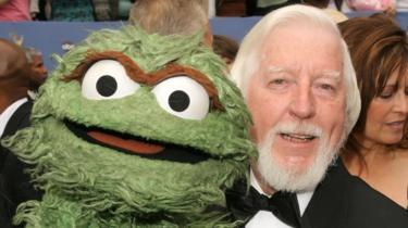 Oscar the Grouch and Caroll Spinney