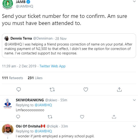 Nigerians correct JAMB