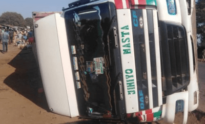 12 die as overloaded Lagos-bound container truck crashes in Mokwa (Photo)