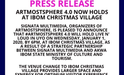 ArtMostSphere 4.0 Now To Be Held At Ibom Christmas Village