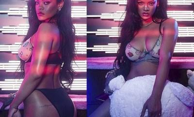 Rihanna flaunts her sensational figure in racy lingerie? (Photos)