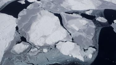 Nasa satellite image of ice loss in Antarctica