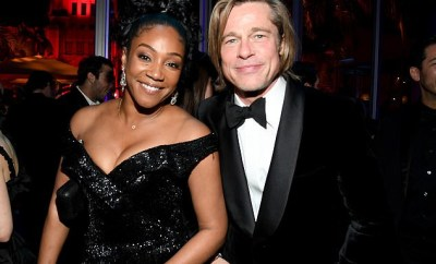 Tiffany Haddish poses with Brad Pitt two years after she joked about offering herself as his