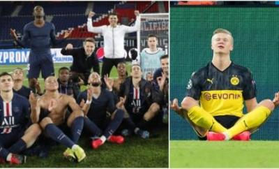 PSG copied Haaland's celebration on the pitch and in the changing room