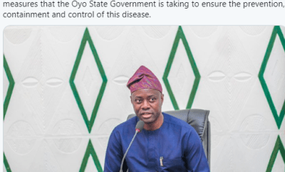 """""""It should not have happened. I take responsibility"""" Oyo state governor reacts to backlash over the rally he held amid the coronavirus crisis"""