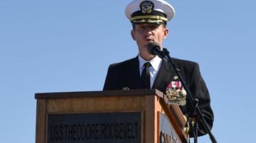 Capt Brett Crozier. File photo