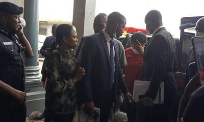 Celebrities call for arrest of journalists and security operatives swarming around Funke Akindele and JJC Skillz while being arraigned in court (video)