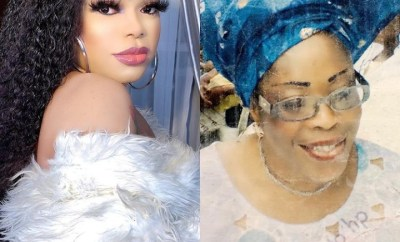 Bobrisky releases photo of his mum as he opens up on how she died